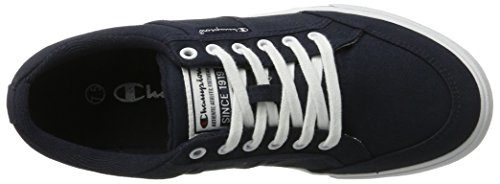 Champion Placard, Sneakers Basses Homme Bleu (Wht - Navyblau/weiß)