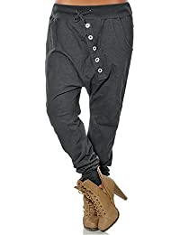 2463c829b565 OHQ Damen Girlfriend Hosen Mode Frau Hipsters Pluderhosen Bloomers Baggy  Hose Knopf Lässige Füße…