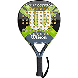 Wilson Carbon Force - Raqueta , color negro / gris / verde, talla 2