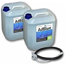 2xAdBlue 10 Litros SCR Solución de urea con Manguera de llenado para Adblue Bidón