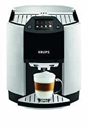 Krups Premium EA9010 Espresso One Touch Cappuccino Kaffeevollautomat Silber/Schwarz