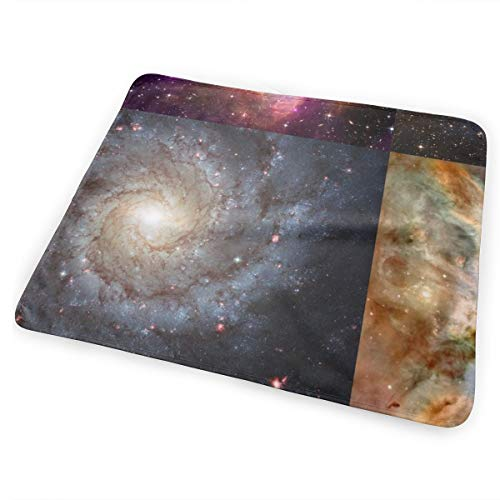 Nebulae U0026 Galaxies Outer Space Patchwork Cheater Quilt Blocks Washable Incontinence Pad Baby Changing Pad Pet Mat Large Size 25.5 x 31.5 inch (65cm*80cm) -