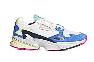 adidas Damen Falcon W Fitnessschuhe, Weiß Ftwbla/Azul 0, 39 1/3 EU