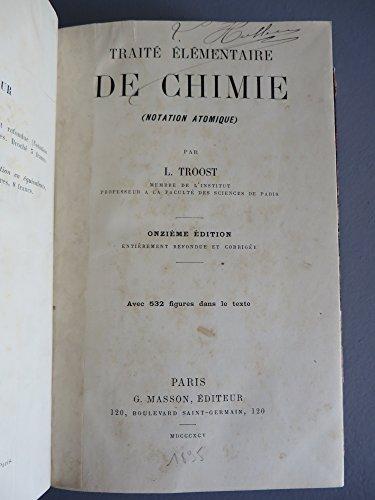 Traité élémentaire de Chimie Notation Atomique