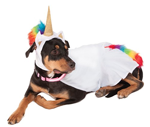 Rubies Costume Einhorn Umhang mit Kapuze und Tricks Halsband Pet Kostüm, XXXL (Elvis-hund Halloween-kostüme)