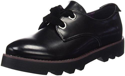 Mariamare Basic Calzado Señora, Zapatos de Cordones Oxford para Mujer, Negro (Floren Negro), 39 EU