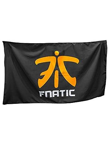 Fnatic Supporters Banner with Orange Logo, Black - 150cm x 90cm
