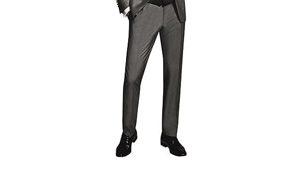 Drop8 Grau Wilvorst Smokinghose Uni Super-Slimline