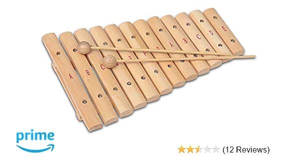 Xylophon mit 12 Tönen Musikinstrument Goki 61969