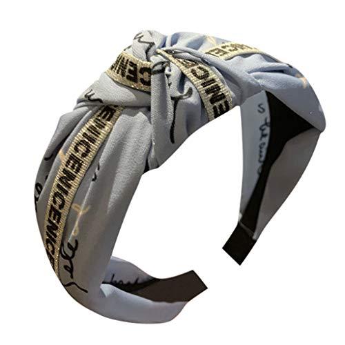 Turban Stirnband Kreuz Knoten Haarband Breite Haarreifen Kopfbedeckung für Frauen Mädchen Brief Headband Fabric Hairband (Karten Lustige Geburtstag Pack)