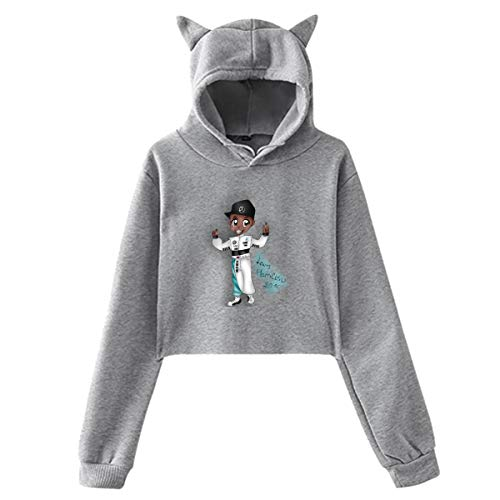 UfashionU Jugend Mädchen Katze Ohr Hoodie Lewis Hamilton Print Pullover Kapuzen Sweatshirt Hoodies für große Mädchen Kleidung Sport Mantel Tops -