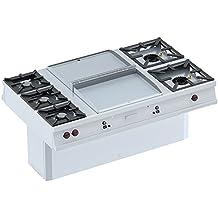 Eurast 40030G13 Cocina-Frytop Cd 15 Mm Central A Gas