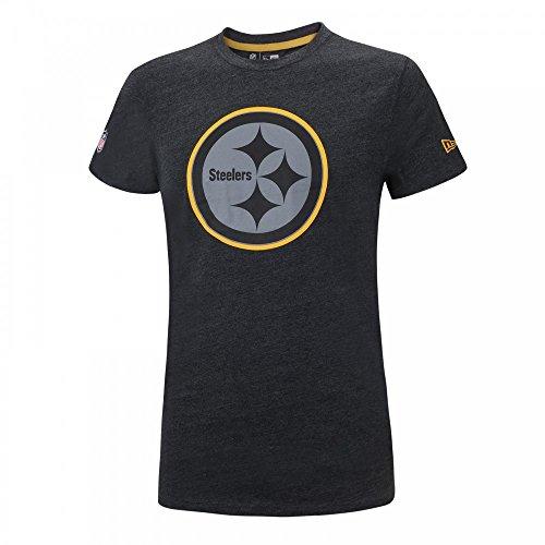 New Era Herren Oberteile/T-Shirt Two Tone Pop Charcoal