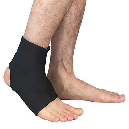 WESYY Supporto Caviglia, Supporto per Caviglia Regolabile di Traspirante Manica Super Elastica per Riabilitazione delle Ferite Acute, Efficace Sollievo per Dolore Cronico alla CavigliablackSm