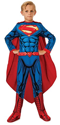 Superman Jungen Fancy Kleid DC Comic Superhero Kinder Kostüm Outfit (Kinder-superman-outfit)