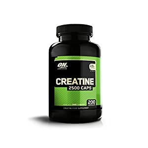 419qtHv7odL. SS300  - Optimum Nutrition Creatine 2500 mg Capsules, Unflavoured Creatine Monohydrate Tablets for Muscle Growth, 100 Servings, 200 Capsules