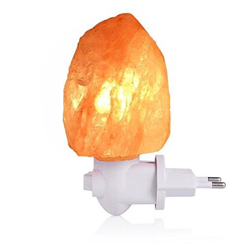 LEDGLE l¨¢mpara de sal de 10W Himalaya luz de sal con enchufe de pared, sal natural, 220V, bombilla incandescente incorporada