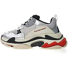 Balenciaga Triple-S Trainer 520156W09O31081 Silver Black Zapatillas de Running para Hombre Mujer