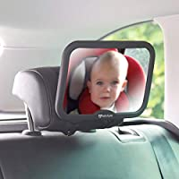 Venture Baby Car Mirror Shatterproof Baby Mirror for Car -Premium Black