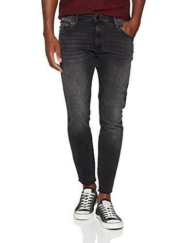 Mavi Herren Skinny Jeans Leo Cropped Grau (Deep Grey Black 26747), W30 - Capri Cropped-jeans