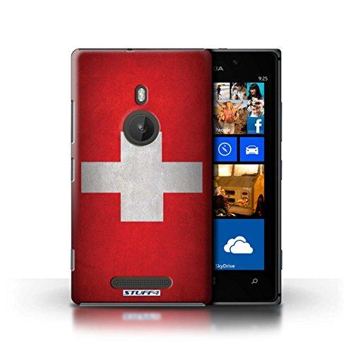 Kobalt® Imprimé Etui / Coque pour Nokia Lumia 925 / Royaume-Uni/Britannique conception / Série Drapeau Suisse