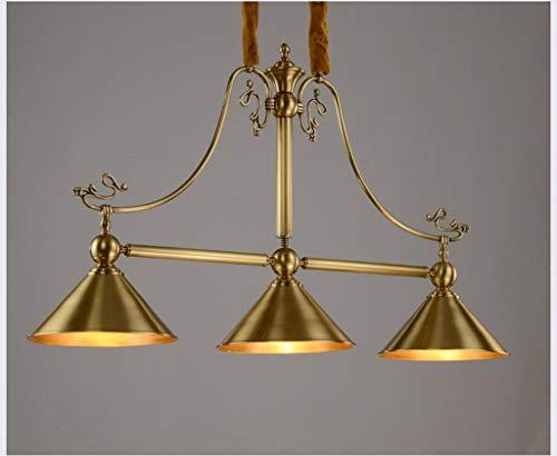 American Style Kupfer Lampe Kronleuchter Kreative Einfach Reines Kupfer Restaurant Billard Billard Leuchten Drei Köpfe Rechteck Bar Lampe Fest -