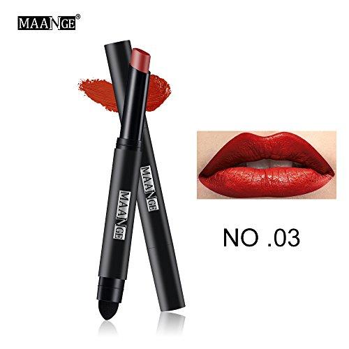 Lipgloss,Rabatt,PorLous 2019 Beliebt Langlebiger Lippenstift Wasserdichter Matt Lipgloss Lip Liner Cosmetics Feuchtigkeitsspendend 3