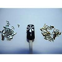 DIVISTAR 250 Piezas Oro & Plata 5 mm Taco de Metal para Clavos, teléfonos móviles