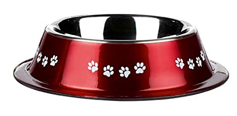 Classic Pet Products Classic Posh Paws Non Tip Dish, 500 ml, Red