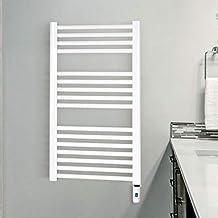 Cicsa - Toallero Radiador Eléctrico 80 x 50 de Acero Blanco (Ral 9016) -