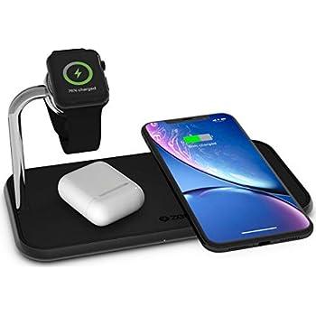 ZENS Qi certifié Quick Charging Wireless Pad 10W noir, prend en charge la charge rapide sans fil