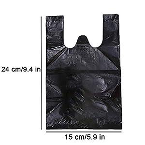 Icecode Disposable Sanitary Bags, 300 PCS Women Personal Disposal Bags Black Waste Bags for Sanitary Napkin