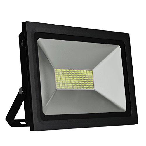 Solla® 100W LED Flutlicht Fluter 230V Außenleuchte, 8800Lumen, Kaltweiß, 6000 K, IP65 Wasserfest, LED Scheinwerfer Außenleuchten