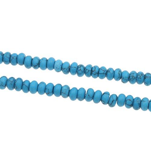Türkis Perlen EDELSTEIN HALBEDELSTEIN RONDELL NATURSTEIN 6mm 30Stk Blau G48
