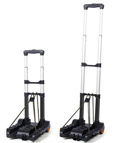 DIMNEL Carro portátil de mano plegable Carro utilitario de 2 ruedas, 35 Kg / 77 libras de capacidad y peso ligero plegable Carrito de equipaje para viajes, AUTO, equipaje, compras, movimiento personal