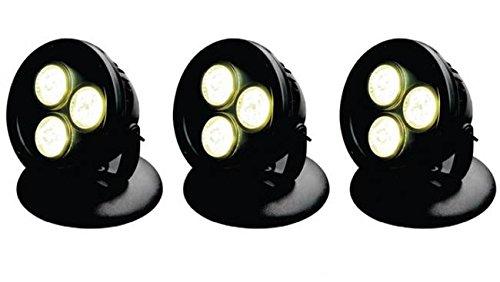 AquaForte Teich und Garten LED Lampen HP12-3, 3x 12 W, 12 V, schwarz