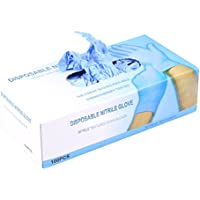 100 pcs Guantes desechables de látex sin polvo, talla S/M/L,
