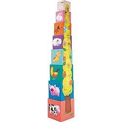 """Legler 4337 - Torre De Cubos """"Animales"""" (Madera) (+1 Año)"""