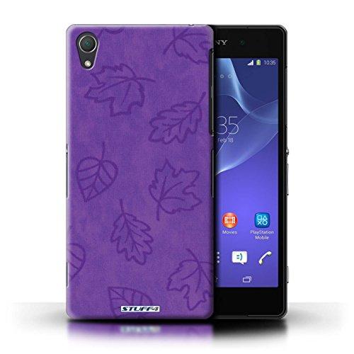 Kobalt® Imprimé Etui / Coque pour Sony Xperia Z2 / Rose conception / Série Motif Feuille/Effet Textile Pourpre