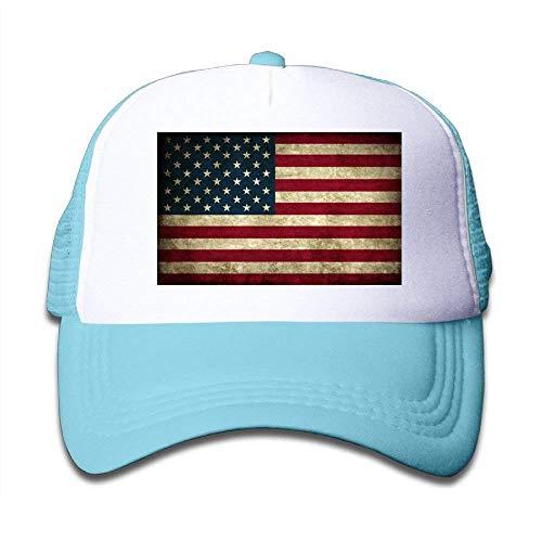 daawqee Baseball Caps Hats Kids Cap Vintage American Flag Mesh Cap Dad Caps  Baseball Cap Adjustable ac376ae32ca5