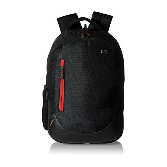 Gear Polyester 24 Ltrs Jet Black Laptop Backpack (LBPECO1000109)