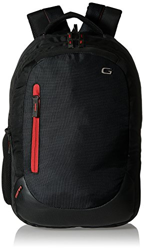 Gear Polyester 24 Ltrs Jet Black Laptop Backpack (LBPECO1000109)