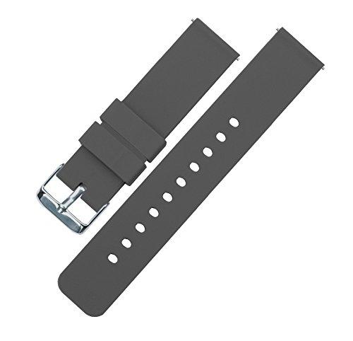 Barton Watch Bands Silicone Bracelet De Montre Libération Rapide - Choisissez La Couleur Et La Largeur Gris 20mm