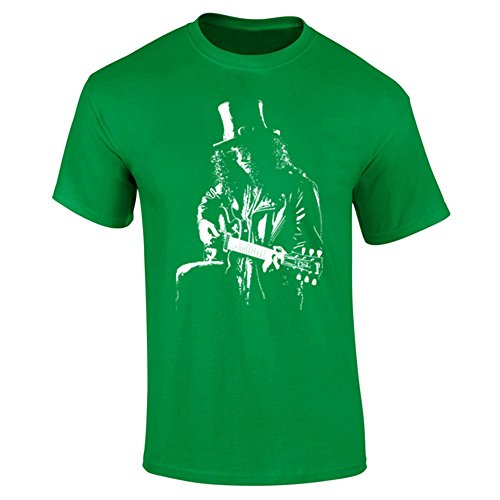 Herren Slash Guns N Roses Iconic Rock T-Shirt Gr. Small, grün