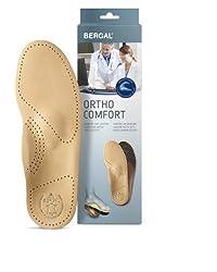 Bergal Ortho Comfort Einlegesohlen Fußbett mit echtem Leder Herren Gr. 46