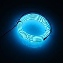 Lerway Colorido 5M Neno Electroluminiscente Luz,Mangueras Flexibles Alambre de EL LED Luces con Controlador Box, para Hogar Cocina Jardín Baño Camping Bar Decoración,Arboles Navidad, Fiesta/Club/Coche Cable