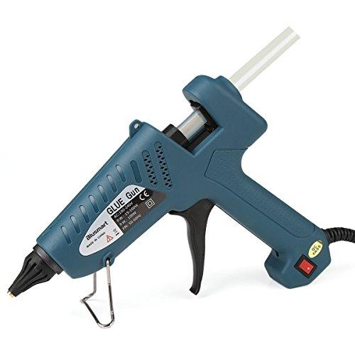Blusmart 100-Watt Industriale Pistola colla a caldo Alta temperatura con 10pcs colla stick,Verde scuro