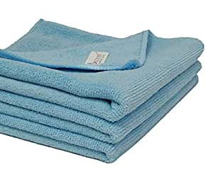 SOBBY Microfiber Cloth for Car Cleaning Bike Cleaning Vehicle Washing cloths- 40cm x 40cm-Pack of 3 (Sky Blue)