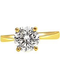 Surat Diamond 18k (750) Yellow Gold And Diamond Solitaire Ring - B01MQ0NTC1