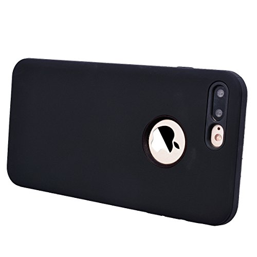 Yokata Cover per iPhone 8 Plus Custodia per iPhone 8 Plus gel Silicone Case Durevole TPU Backcover Protettiva Caso Premium Ultra Sottile Bumper Antiurto Protezione Shell + Penna - Nero Nero